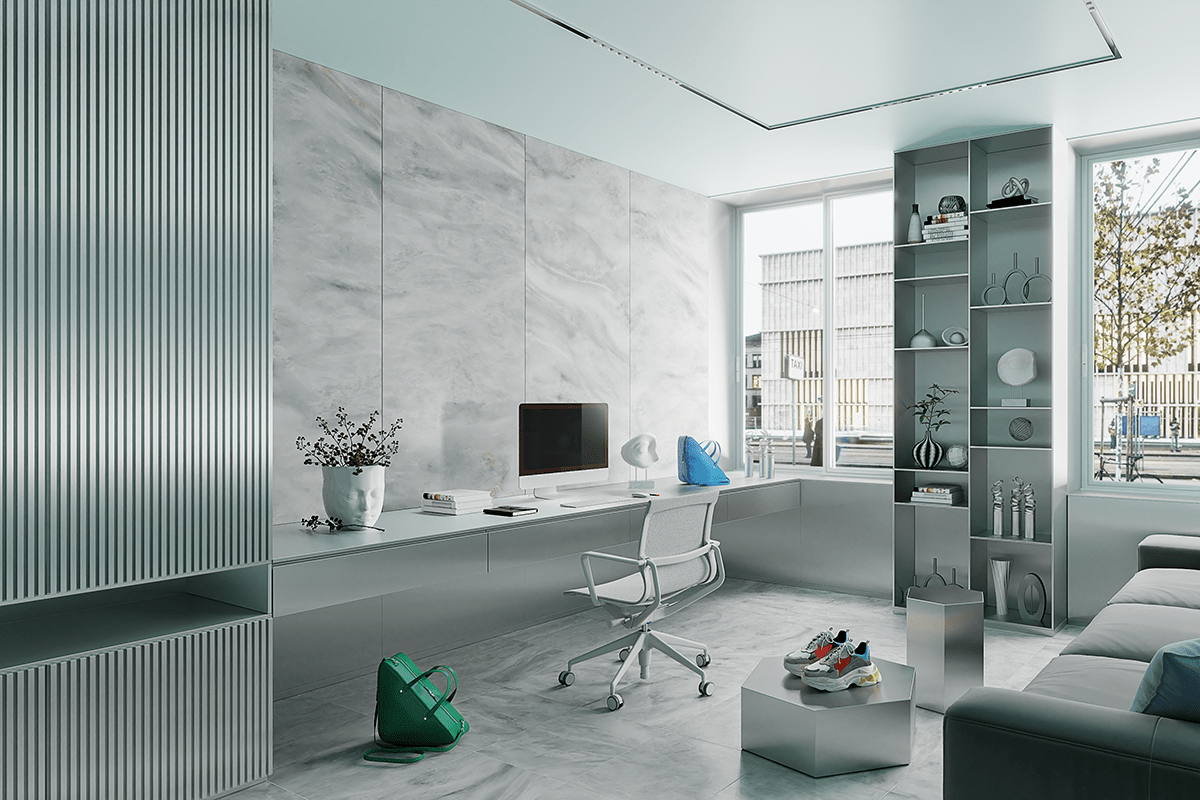 Office in the style of Balenciaga