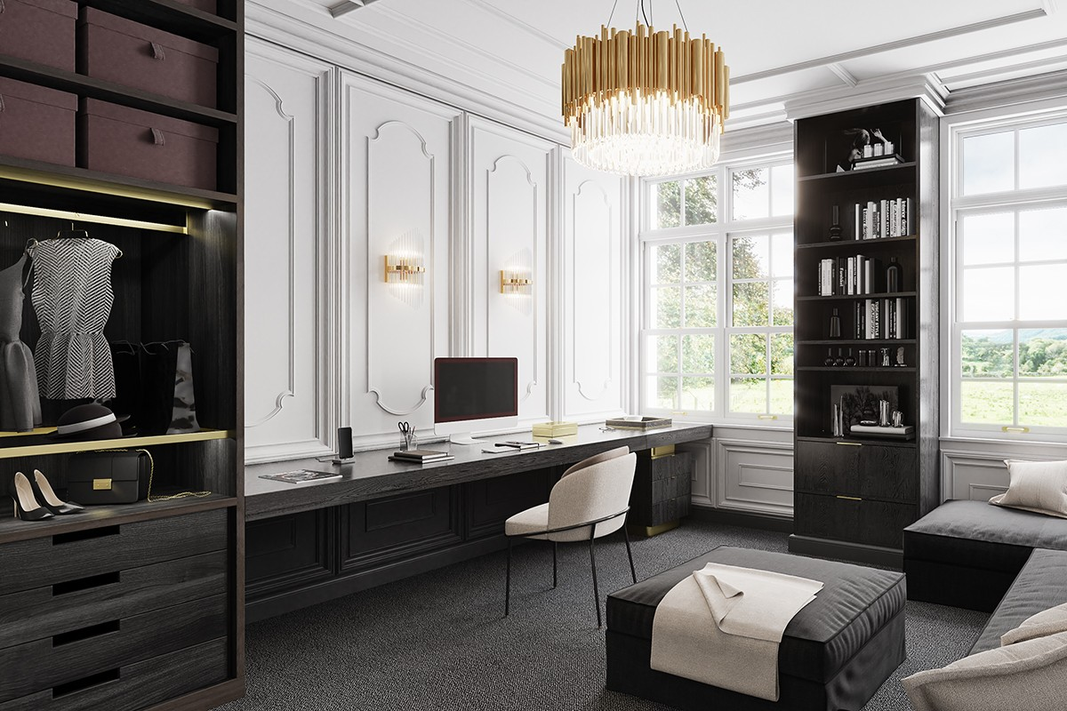 Office in the style of Coco Chanel