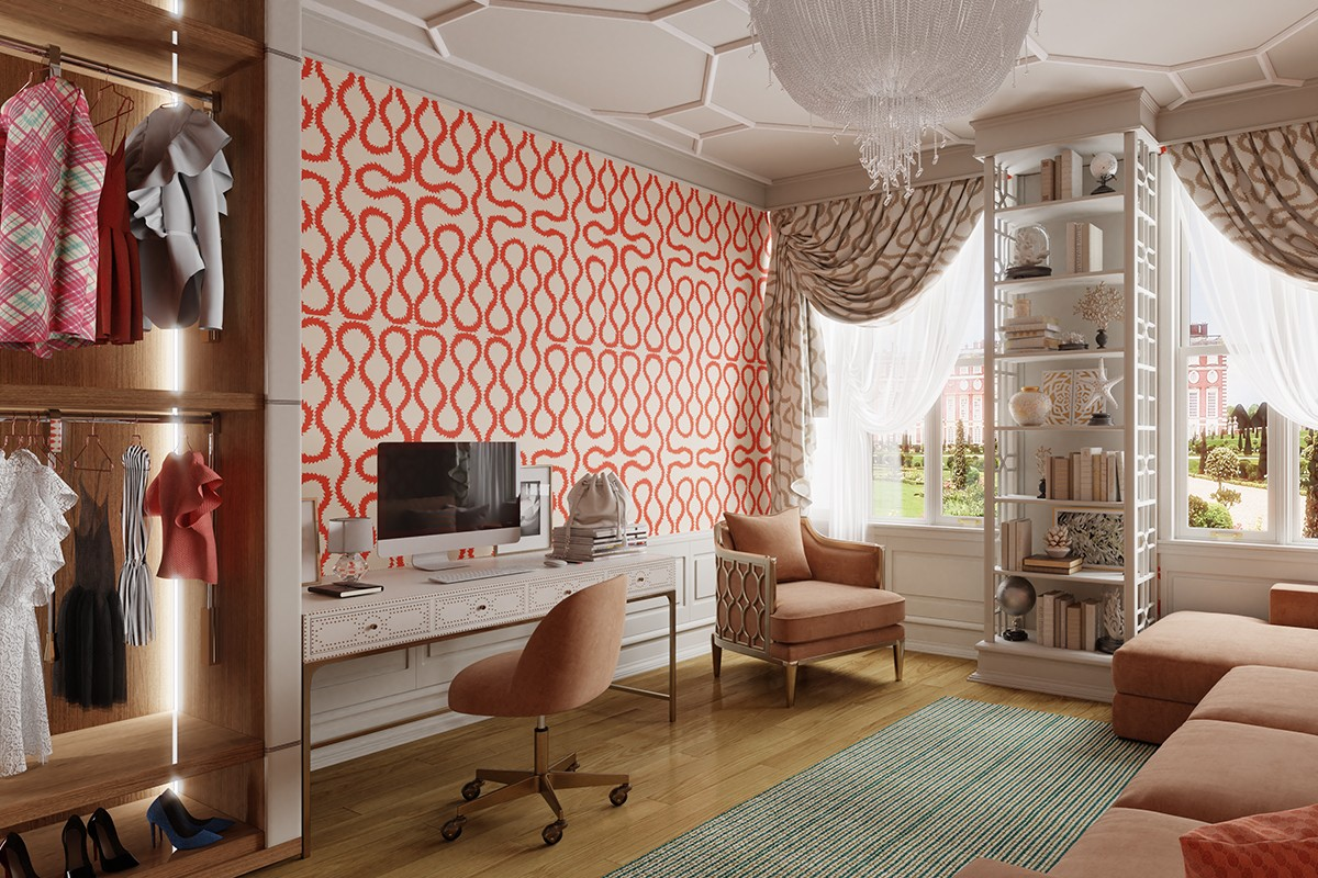 Office in the style of Vivienne Westwood